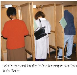 Voters cast ballots for transportation initiatives